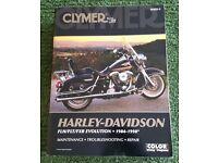 Harley Davidson FLH/FLT/FXR EVOLUTION - 1984-1998 MAINTENANCE - TROUBLESHOOTING - REPAIR MANUAL