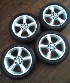 BMW - 17 INCH ALLOYS - Genuine main dealer Alloys + DUNLOP/CONTINENTIAL tyres
