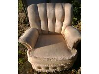 Vintage low armchair
