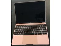 Rose Gold Apple MacBook 12-inch notebook with Retina display