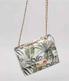New Look Pink & Green Palm Tree Print Shoulder Bag Brand New