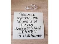 Because Someone We Love Is In Heaven Vinyl Decal Stickers