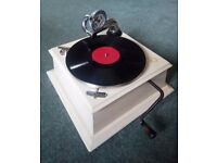 Small working antique gramophone