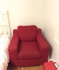 FREE Ikea 1 seat red sofa