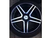 "18"" DRC DMG Mercedes Vito Viano Alloy Wheels & Tyres 245/45R18 5x112 Fits E S Class Black Polished"