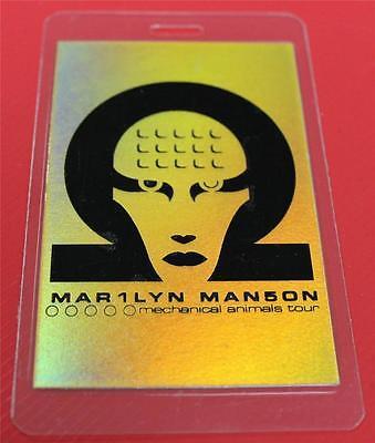 Vintage Marilyn Manson Mechanical Animals Laminated Backstage Pass HOLOGRAM FOIL