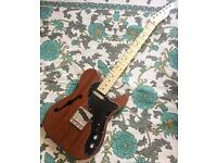 Squier Classic Vibe Thinline Telecaster with Fender Gigbag and upgrades