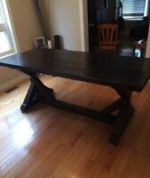 ONE OF A KIND HANDSCRAPED HARVEST TABLE
