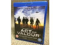 "Blue Ray ""Act of Valor"" - £3"