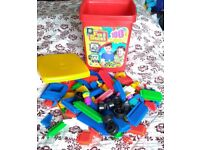 Fun bricks/stickle bricks approx. 90 pieces