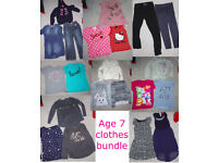 Bundle Girl's Clothes Age 7 -- 21 items