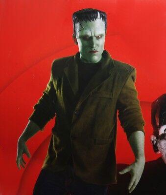 Mens FRANKENSTEIN Halloween Costume Jacket Face MAKEUP Monsterville S M  NEW - Frankenstein Jacket
