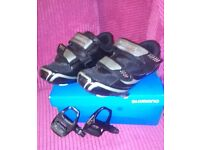 Ladies Cycling Shoes size 39, Cleats and Pedals as new