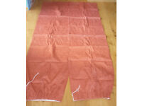Thermal lined Dunelm curtains, Toledo Terracotta 90 x 46 inches Curtian Pole and New Tie Backs