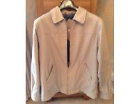 Men's Clothing Beige Jacket by Simon Taylor Size Medium