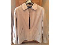 Men's Clothing Beige Lined Jacket Size Medium 38-40 inch Chest
