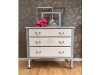 Mid century Shabby Chic Chest of Drawers