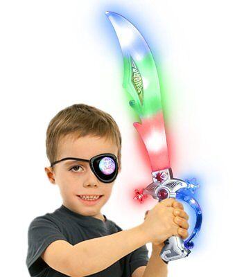 2 pack Flashing LED Pirate Light up Sword with Sound Swashbuckler LED Sword  - Sword Sound