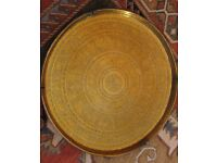 Antique Indian Brass Tray