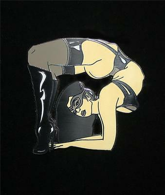 DEFLECTION HARD ENAMEL PIN BY TYSON MCADOO PIN-UPS