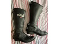 Frank Thomas Leather Motorcycle Boots - Size 8