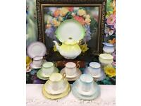 Rare Vintage Royal Albert Rainbow Hampton Shape Tea Service