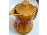 adams glazed ironstone coffee pot