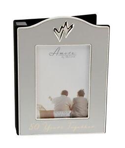 Amore SILVERPLATED 50TH WEDDING ANNIVERSARY PHOTO ALBUM WG35350