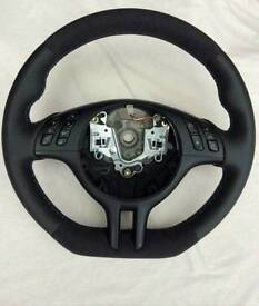 Bmw e46,e39,x3,x5 flat bottom steering wheel