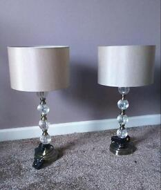 2x boutique lamps £30