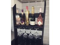 Wine rack and glass holder - flat pack or built!