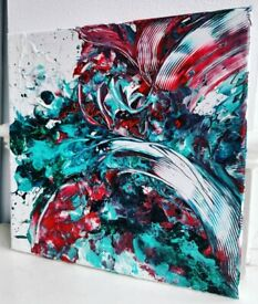 Abstract Acrylic Art Canvas Painting Artwork