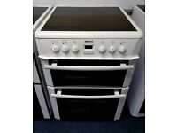 White Beko 60cm Ceramic Cooker - 12 Months Warranty - £180