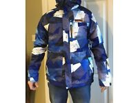Men's No Fear ski jacket, size medium in blue.