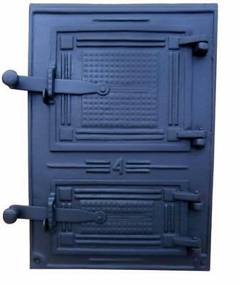 Cast Iron Fire Door Clay Bread Oven Pizza Stove Quality Grey (FC) 28,4 x 40,5