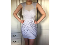 Lilac Stunning Mini Dress with Crossover Skirt