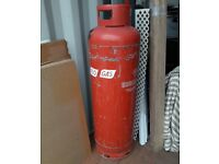 47kg Propane Gas Cylinder Bottle (unknown amount of gas left; nearly empty)