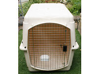 2 Large Airline Transport Kennels - Can be used as House Kennels & 2 Large Dog Beds Covers Washable.