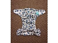 Charlie Banana One Size Cloth Nappy with 2 inserts | WILLIAM DISCONTINUED | £25 | VGC | Rawmarsh