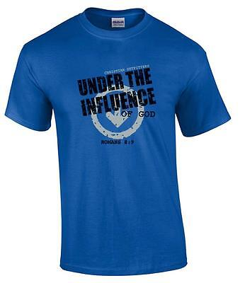 TALL Christian Under the Influence of God Romans 8:9 Religious T-Shirt