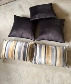 5 Laura Ashley Duck Feather Filled Cushions