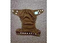 Charlie Banana One Size Cloth Nappy with 2 inserts | HOLLY BROWN | £20 | GREAT CONDITION | Rawmarsh