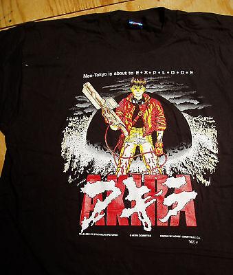 AKIRA KANEDA ORIGINAL 1992 BLACK  T SHIRT SIZE SMALL ANIME TOKYO JAPAN  VINTAGE