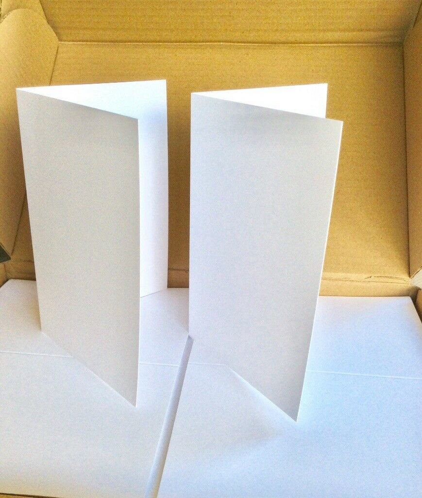 400 Greeting Card Blanks For Handmade Cards Cut Creased White
