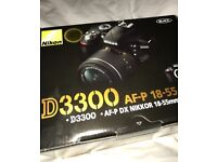 Nikon D3300 as new used once in box