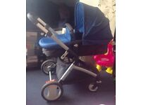 Mothercare pram/ parent facing stroller. Excellent condition. Hardly used