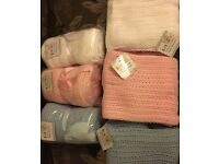 ***Brand new and in packaging*** Baby cellular blankets - Pink blue or white