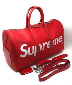 Louis Vuitton X Supreme  Red Black Travel Bag ( More Colors Brands Styles Available)