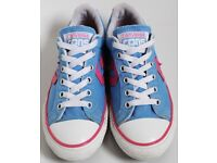 Women's Size 3 Blue and Pink Converse Trainers