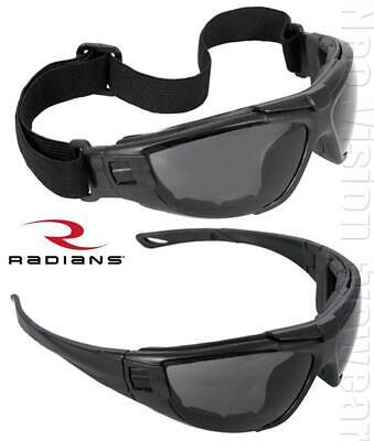 Radians Cuatro 4-in-1 Smokeanti Fog Safety Glasses Hybrid Goggles Foam Padded